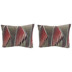 Pair of Vintage Modern Swedish Decorative Lumbar Pillows