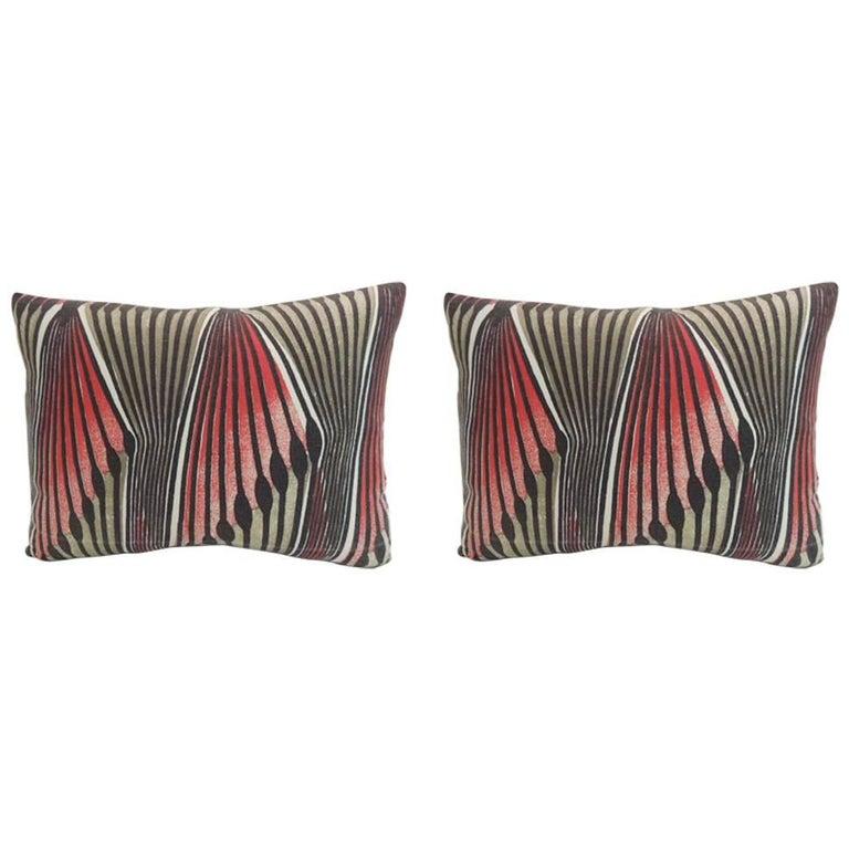 Pair of Vintage Modern Swedish Decorative Lumbar Pillows For Sale at 1stdibs