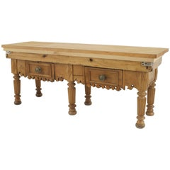 English Country Pine Rectangular Butcher Block