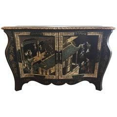Magnificent Estate Chinoiserie Console Painted - Faux Snake Finish Serpentinei