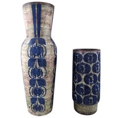 Michael Andersen, Two Large Ceramic Floor Vases, Denmark, 1950s-1960s