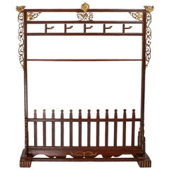 Late Ching Dynasty Coat and Shoe Rack, circa 1900