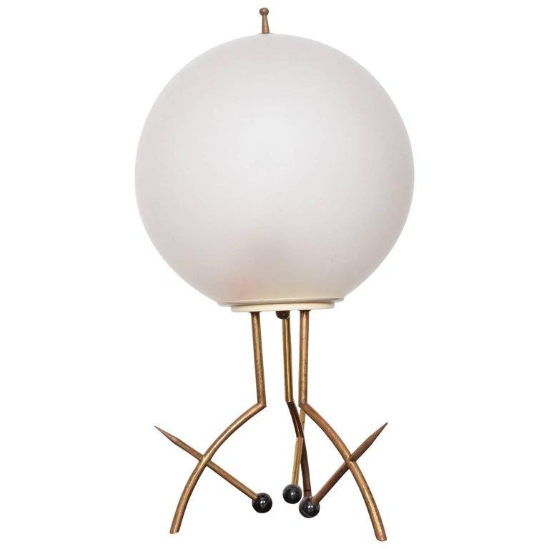 Mid Century Modern Italian Table Lamp With Oversize