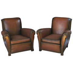 French Leather Club Chairs 'Individually Priced'