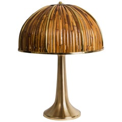 Gabriella Crespi Signed 'Fungo' Table Lamp from Rising Sun Series, Italy, 1970s