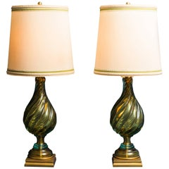 Seguso for Marbro, Pair of Table Lamps, U.S.A., 1960s