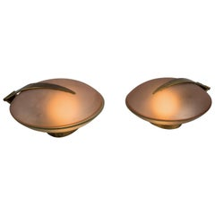Max Ingrand for Fontana Arte Pair of Rare Table Lamps or Sconces