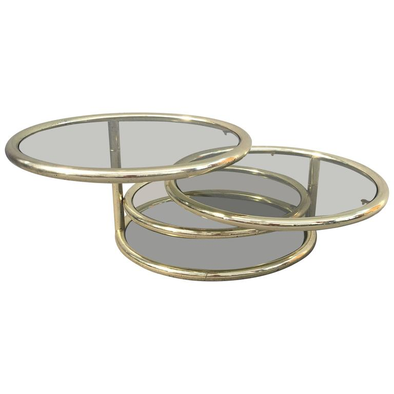 Glamorous Sliding Coffee Table For Sale