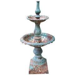 19th Century English Cast-Iron Garden Fountain
