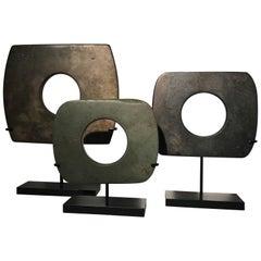 Three Stone Ceremonial Objects from Burma, 19th Century
