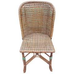Natural Rattan Chair, French Manufacture, circa 1900-1920
