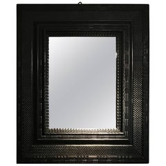 19th Century Ebonized Mirror, France
