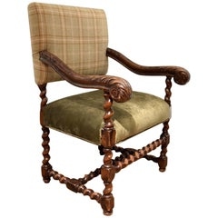 17th Century French Luis XIII Armchair