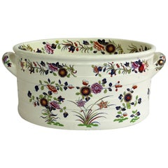 Very Rare Spode Foot Bath, Earthenware, Chinese Flowers Pattern 2963, circa 1820