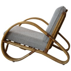 Bamboo Lounge Chair by Rohé Rotan, 1950