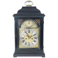 Ebonized Mantle, Bracket or Table Clock