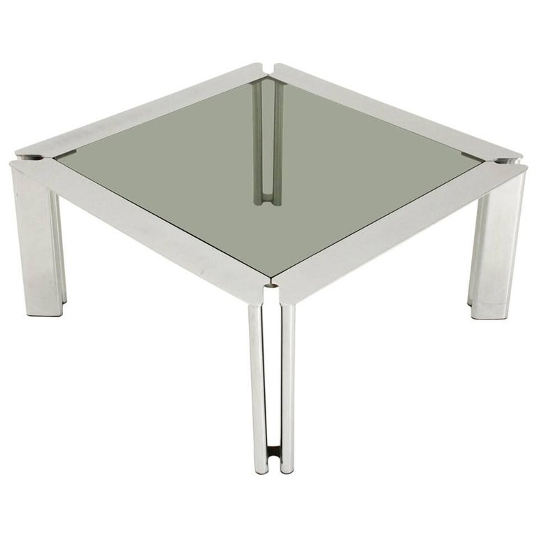 square coffee tables for sale square chromed coffee table for at 1stdibs 8206