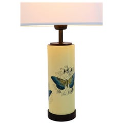 Piero Fornasetti Table Lamp with Butterflies, Early Edition, 1950s