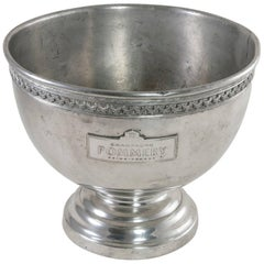 French Pewter Hotel Champagne Bucket Marked Pommery Reims, France, circa 1900