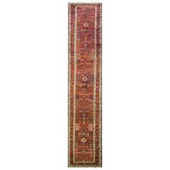 Amazing Antique Persian Heriz Runner