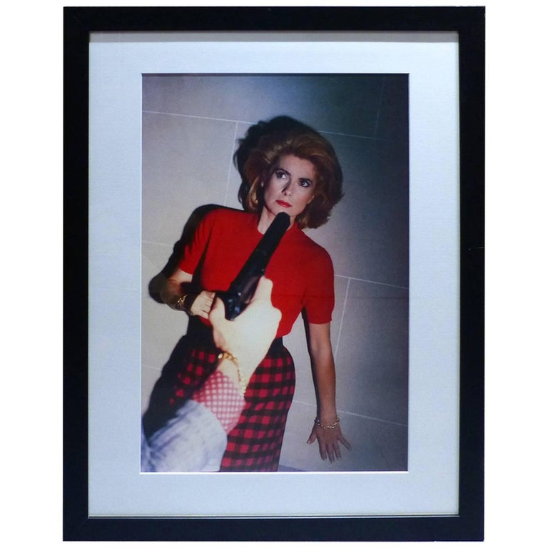 helmut newton framed poster catherine deneuve nouvel observateur paris 1983 for sale at 1stdibs. Black Bedroom Furniture Sets. Home Design Ideas