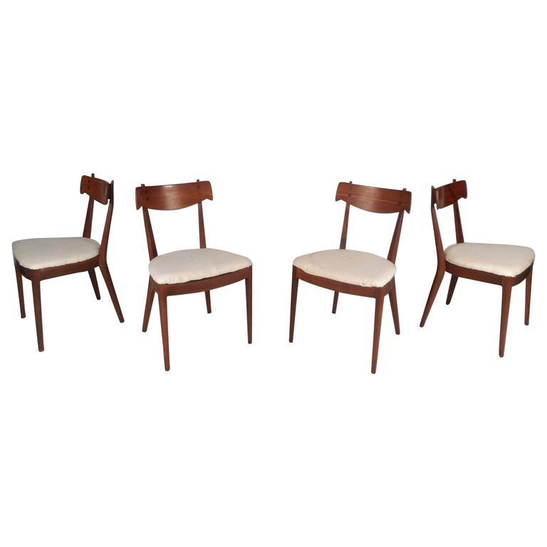 Set Of Mid Century Modern Drexel Declaration Dining Chairs By Kipp