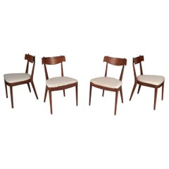 Set of Mid-Century Modern Drexel Declaration Dining Chairs by Kipp Stewart.