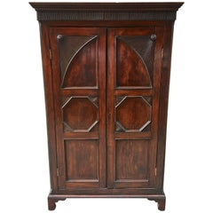 West Indian Mahogany Small-Scale Armoire with Bottom Drawers, circa 1820