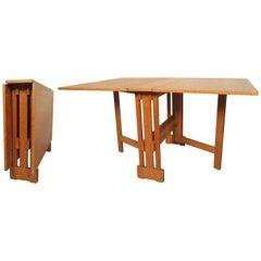 Mid-Century Modern Drop-Leaf Dining Table