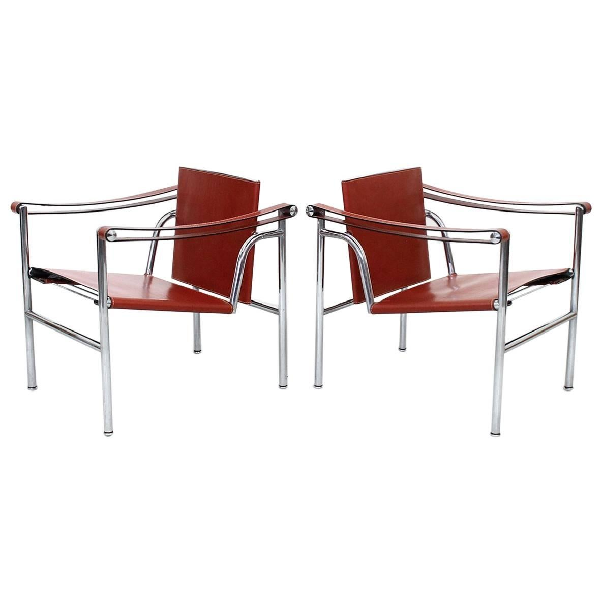 Merveilleux Pair Of Le Corbusier LC1 Lounge Chairs For Cassina