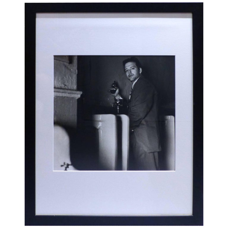 helmut newton framed poster mickey rourke at 1stdibs. Black Bedroom Furniture Sets. Home Design Ideas