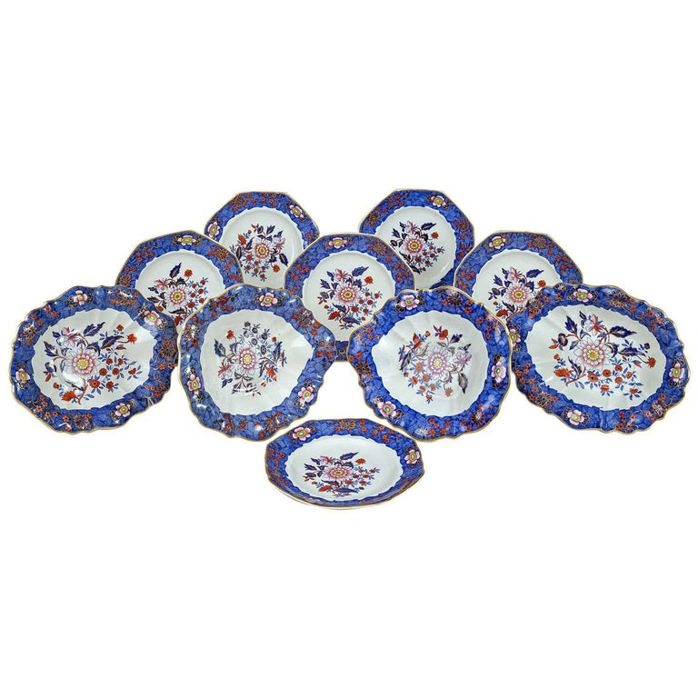 Copeland & Garrett Late Spode Ten-Piece Dessert Set For Sale