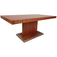 Mid-Century Modern Burl Dining Table