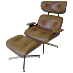 Plycraft George Mulhauser Designed Lounge Chair and Ottoman
