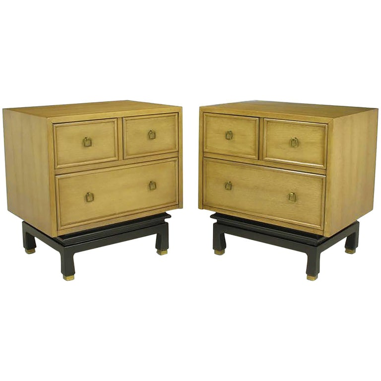 Pair of american of martinsville glazed mahogany for American martinsville bedroom furniture
