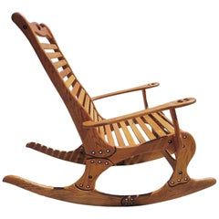 "Hand Sculpted Rocking Chair by Robert ""Jocko"" Johnson, 1998"