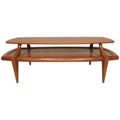 Vintage Modern Floating Top Table