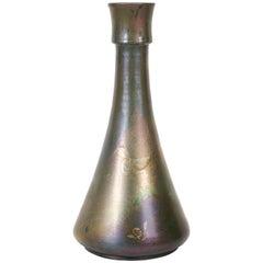 "French Art Nouveau Period ""Honey Bee"" Ceramic Vase by Clement Massier, c. 1900"