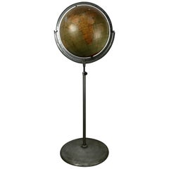 Telescoping Adjustable World Globe by Rand McNally, Chicago