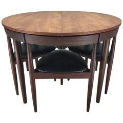 Danish Modern Teak Hans Olsen for Frem Rojle Compact Dining Set