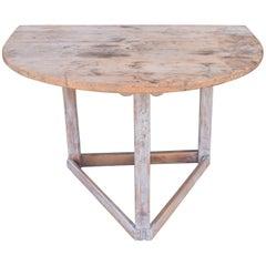 Bemalter Demilune-Tisch aus Kiefer, Schweden, 19. Jahrhundert
