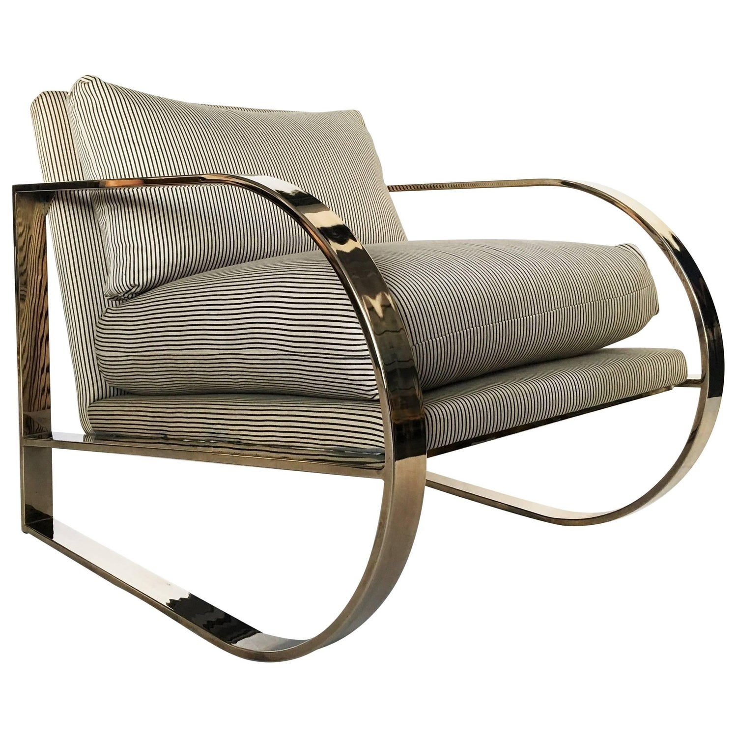 Jens risom floating bench for sale at 1stdibs - Geometric Form Lounge Chair By John Mascheroni For Swaim Originals