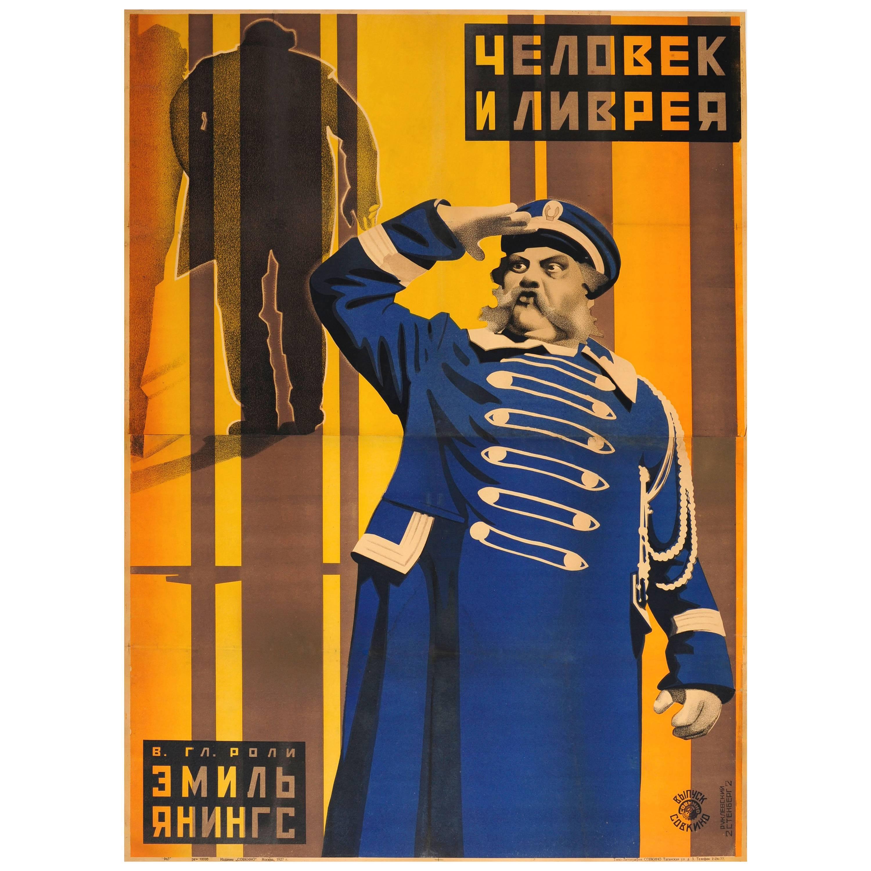Original 1927 Constructivist Soviet Movie Poster Der Letzte Mann The Last Laugh