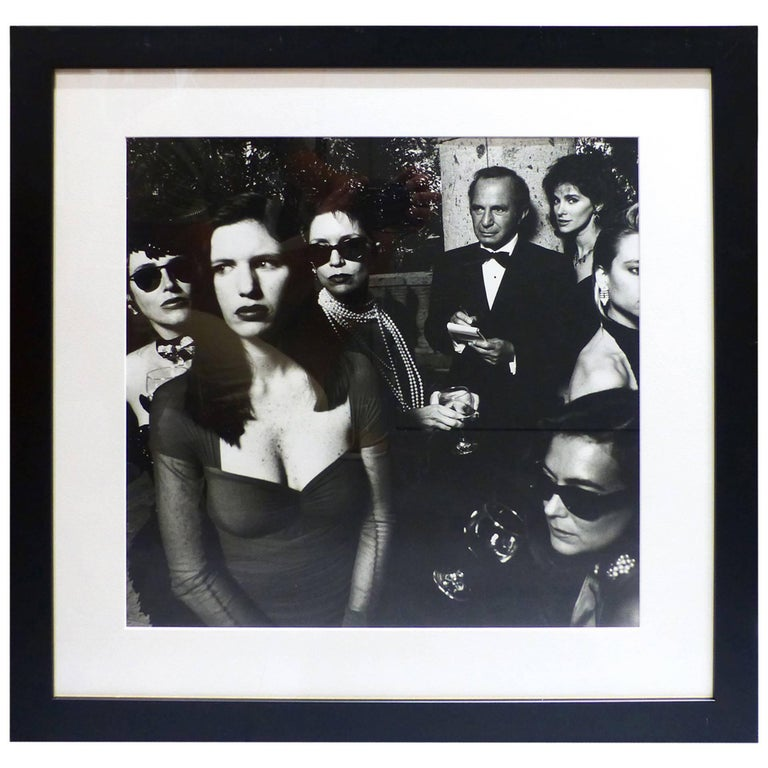 helmut newton framed poster ben gazarra and hollywood wives beverly hills 1990 at 1stdibs. Black Bedroom Furniture Sets. Home Design Ideas