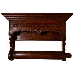 19th Century Bretton Carved Oak Towel Rail