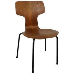 Hammer Teak Children's Chair by Arne Jacobsen for Fritz Hansen, Denmark, 1968