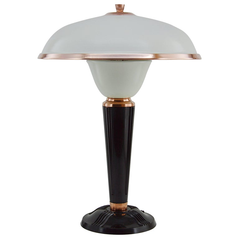 Eileen gray for jumo french art deco desk table lamp late 1930s at 1stdibs - Eileen gray table original ...