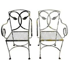 Pair of Salterini Wrought Iron Armchairs