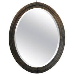 Large Oak Mirror, France, 19th Century