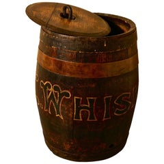 19th Century Oak and Copper Irish Whiskey Barrel, Quirky Umbrella Stand